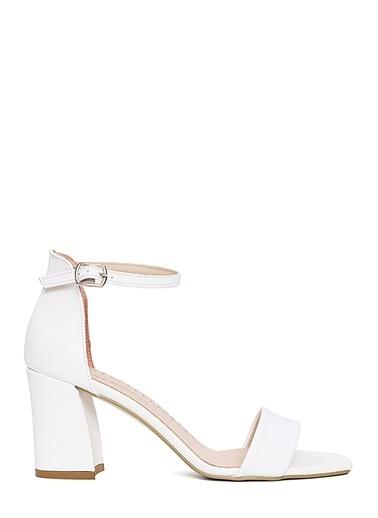 Sole Sisters Topuklu Sandalet Beyaz - Chadler Beyaz